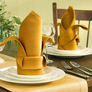 Fold a Fancy Napkin DIY: Fun banana peel folded napkin.