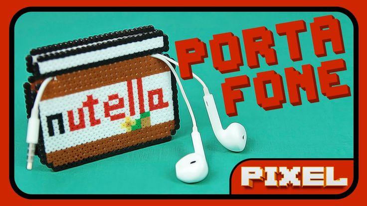 Porta Fone Nutella + Receita Bônus | Pixel Art