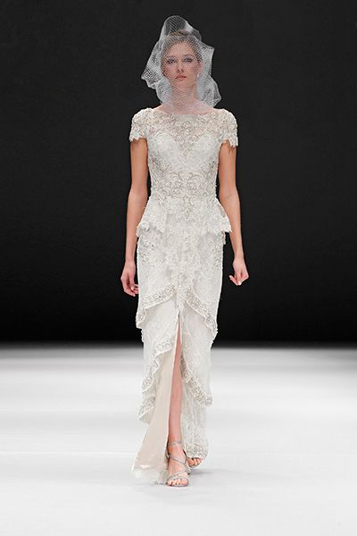 Badgley Mischka Spring 2015 Bridal Collection Love this updated victorian look!