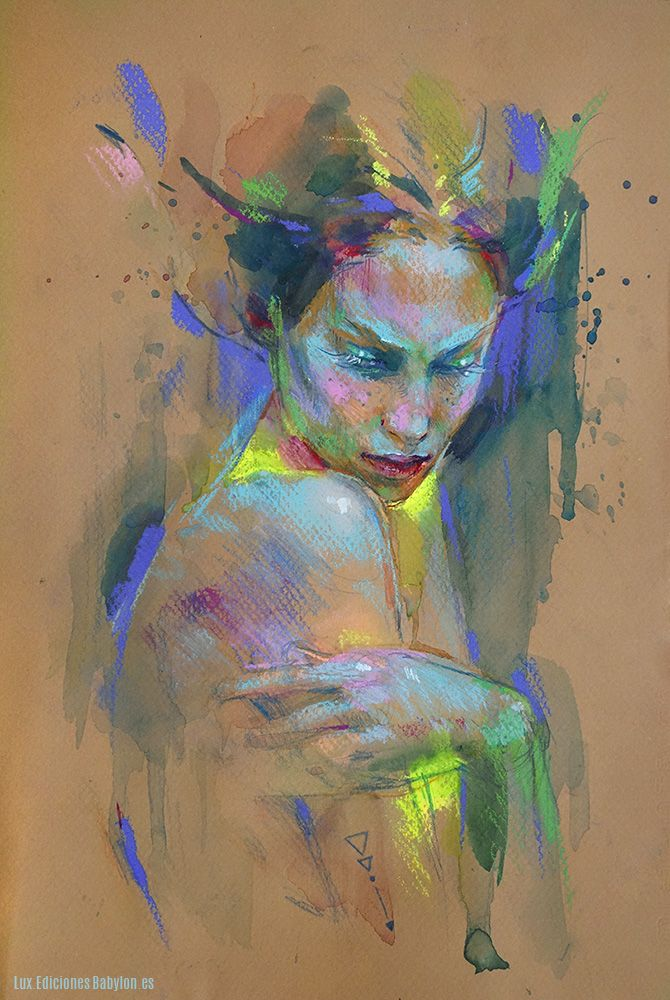 Emotional by MartaNael > awesome pastel art http://www.deviantart.com/art/Emotional-510375591?utm_content=buffer4d319&utm_medium=social&utm_source=pinterest.com&utm_campaign=buffer #pastels #portraitart