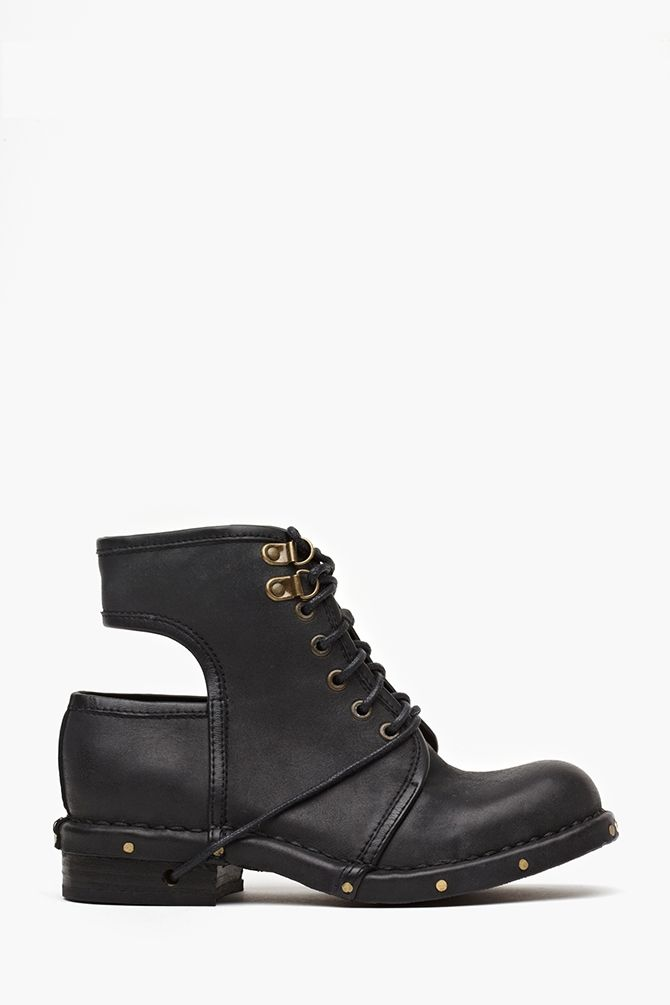 I love combat boots and  think they g with everything. I also like that these shoes have a back that is out. This makes them very different. I would really like these