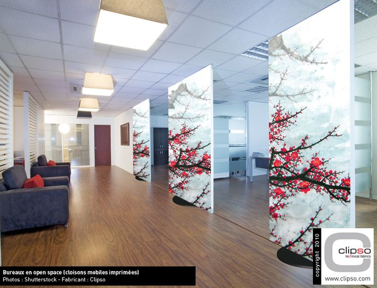 Clipso Project - Printed stretch fabric walls & ceiling - We are the UK distributor, contact us for further details.  #clipso #printed #image #design #office #reception #lights