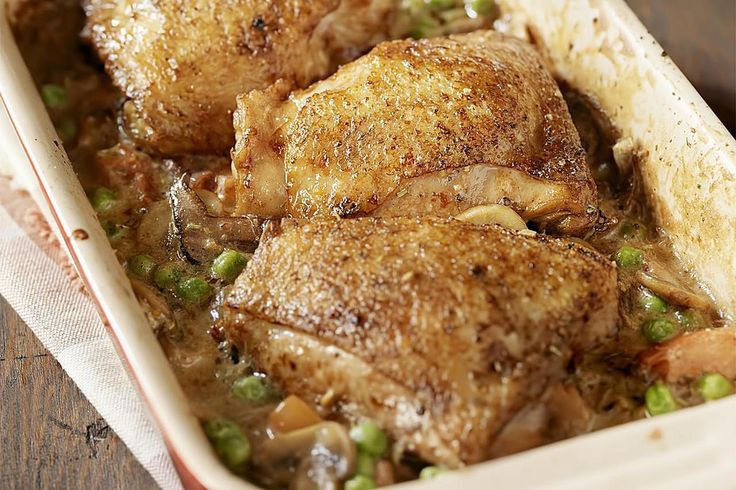 Drunken chicken reaches into almost every European cuisine under different names. The red wine in this recipe gives the meat a real flavor boost.