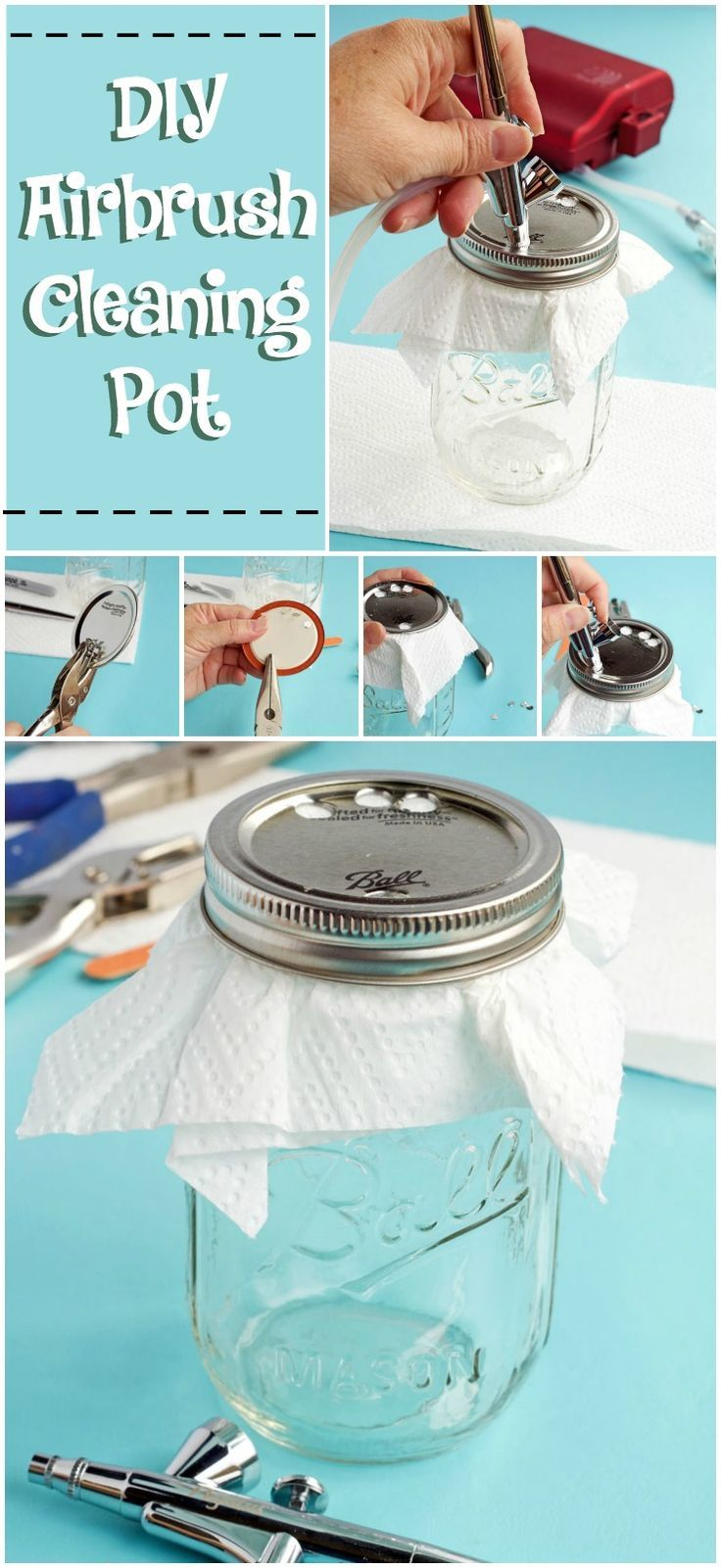 You Have to See This! A DIY Airbrush Cleaning Pot | The Bearfoot Baker