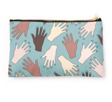 Studio Pouch     Nail Expert Studio - Colorful Manicured Hands Pattern Studio Pouches