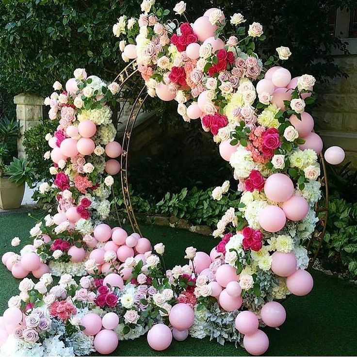 Florals & balloons photo area