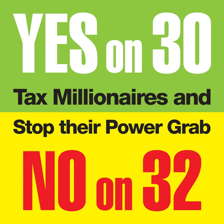 California, Vote Yes on 30 and No on 32.: California, Vote, Social Justice