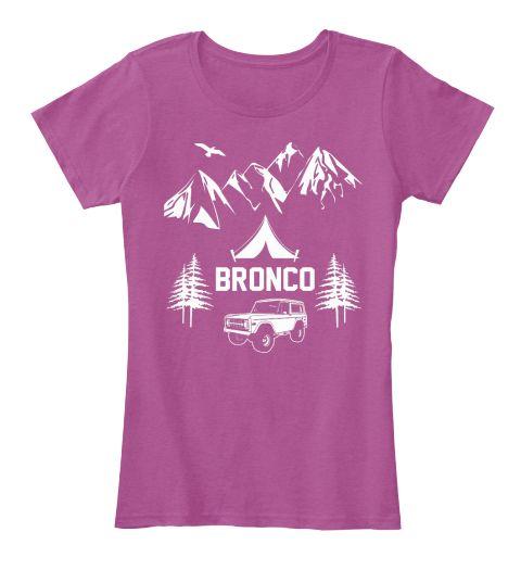 Bronco Truck Living Free Womens T-Shirt