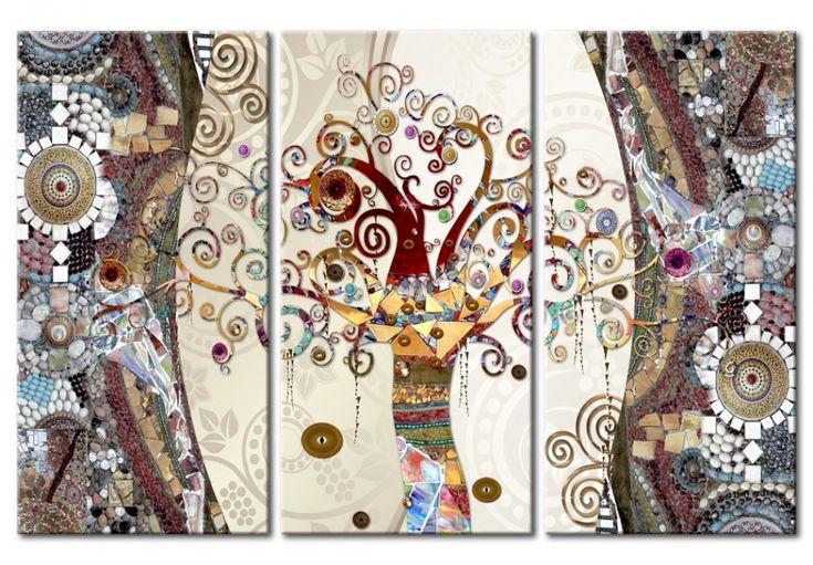 Obraz na ścianę inspirowany secesyjnym malarstwem Gustava Klimta - dostępny w bimago w trzech wersjach kolorystycznych