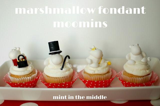 marshmallow fondant moomin cupcakes / muumi kakut