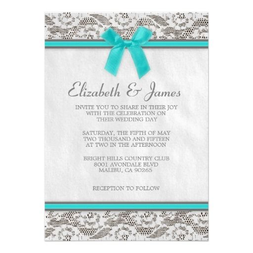 Silver Wedding Invitations Pinterest: 30 Best Teal And Silver Wedding Invitations Images On
