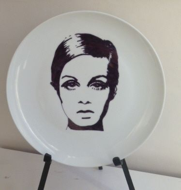 Twiggy Dinner Plate available to buy from Funky Bert personalised clothing and gifts on facebook  sc 1 st  Pinterest & 29 best My Sharpie plate designs images on Pinterest | Sharpie ...