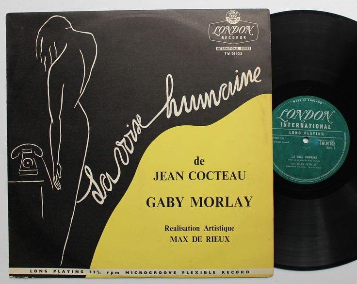Jean Cocteau Gaby Morlay LP 1957 Max de Rieux Cover Art  #FranceBelgium