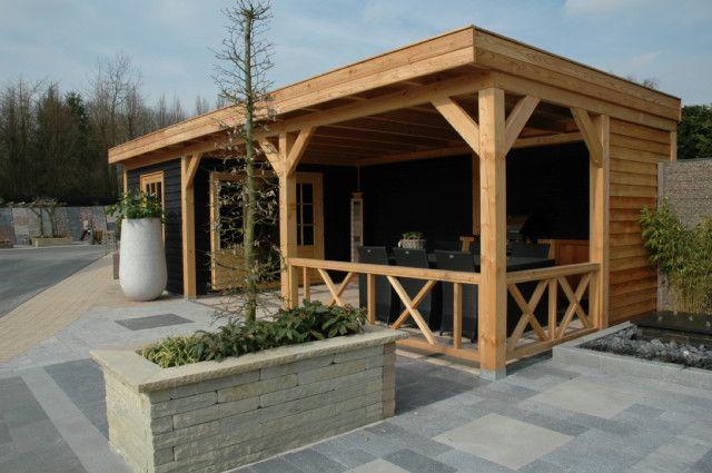 17 beste afbeeldingen over ontwerp achtertuin op pinterest patio rood cederhout en zoeken - Luifel ontwerp voor patio ...