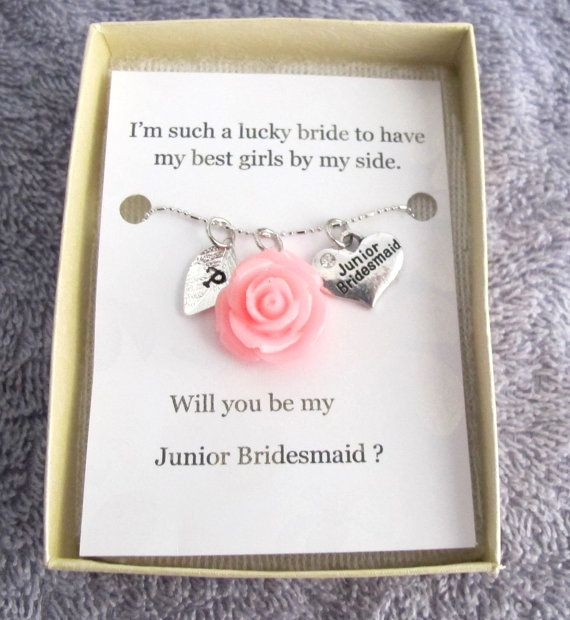 Wedding Gift Ideas For Junior Bridesmaids : junior bridesmaid necklace jr bridesmaid gift junior bridesmaid ...