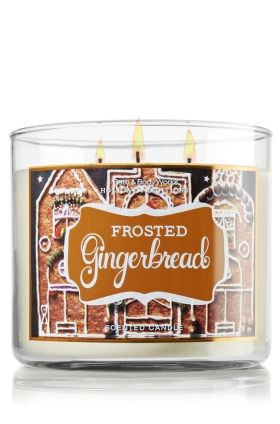 Frosted Gingerbread 14.5 oz. 3-Wick Candle - Slatkin & Co. - Bath & Body Works, obsessed with this fragrance for Christmas time :)