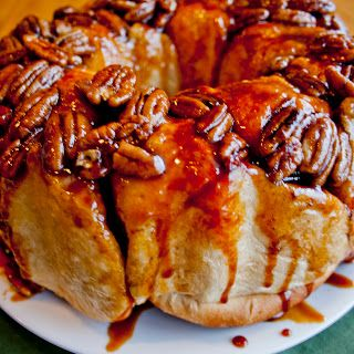 Best Sticky Buns with frozen dinner rolls, pudding mix, butter & sugar. Mix  & sit overnight then bake. IMPROV kitchen: family traditions