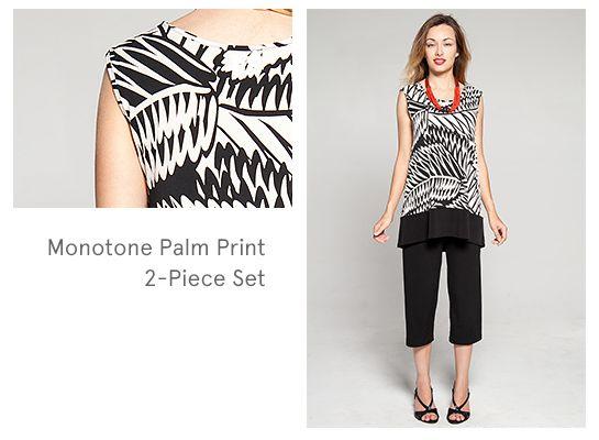 Monotone Print 2-Piece Set - Kim & Co