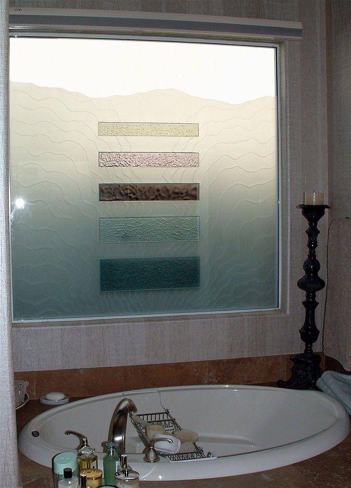 triptic waves glass window sans soucie