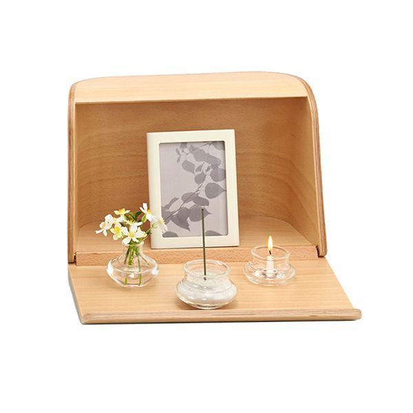 ミニ仏壇 やさしい時間 祈りの手箱 ナチュラル 仏具セット 手元供養専門店 未来創想 手元供養の未来創想 ミニ 仏壇 仏壇 装飾のアイデア