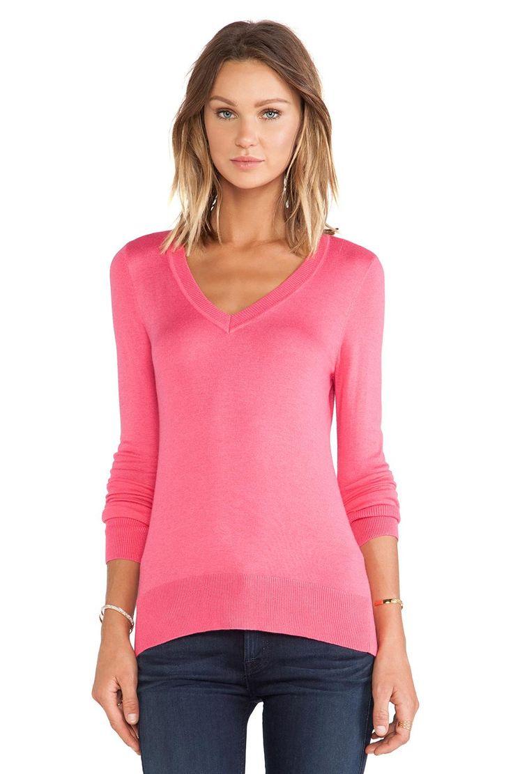 Splendid-Cashmere-Blend-V-Neck-Sweater-