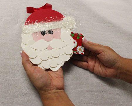 11/15/2010; Andrea Walford at 'Sunny Stampin' Inc' blog; Santa Ornament gift card holder
