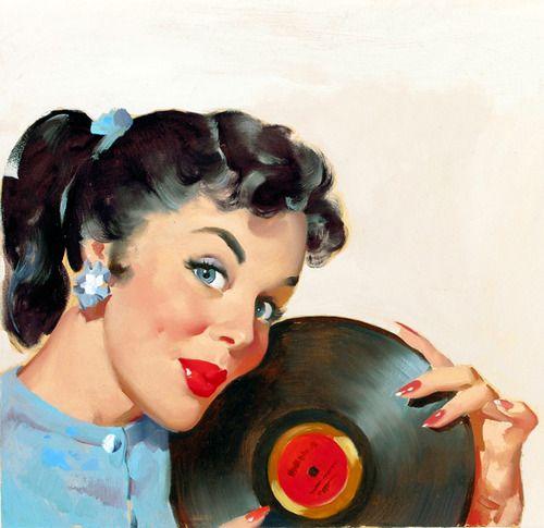 Illustration by Gil Elvgren c. 1950s