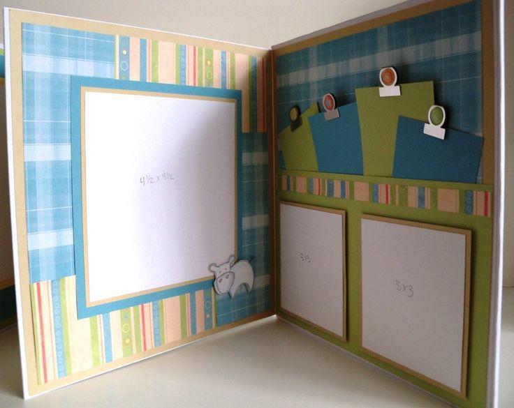 baby boy scrapbook page ideas   Baby Boy 9×9 Accordion Album