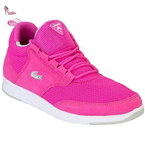 Lacoste Femmes rose Lightbase formateurs-UK 3 - Chaussures lacoste (*Partner-Link)