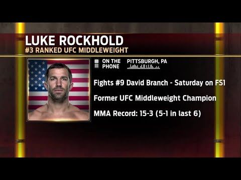 Luke Rockhold talks to the UFC Tonight crew about his upcoming fight against David Branch - YouTube