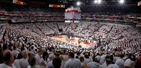 Basketball at the Yum, a fabulous venue.