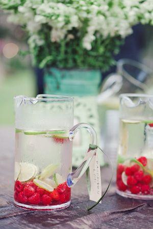 Raspberry lime water