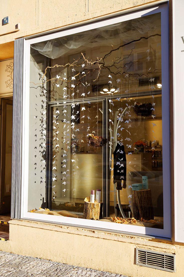 A butterfly window shop in Prague by Kreativni matka