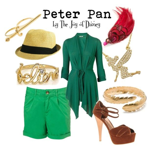 """""""Peter Pan"""" by thejoyofdisney on Polyvore; I very much like the cardigan"""
