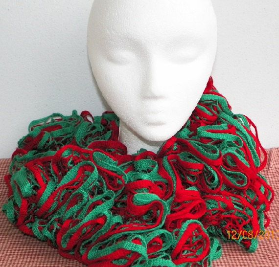 7 best yarn scarfs etc images on pinterest scarves shawl and breien christmas tree crochet ruffle scarf starbella scarf red and green starbella yarn ruffle scarf dt1010fo