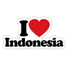 i love indonesia, like i love my self