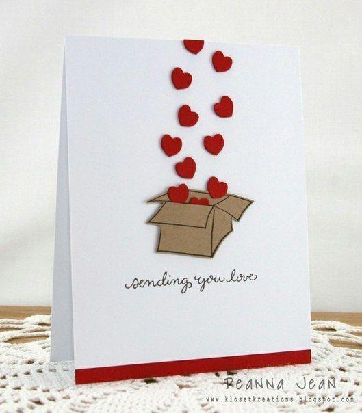 Открытки ко дню Святого Валентина. Идеи.
