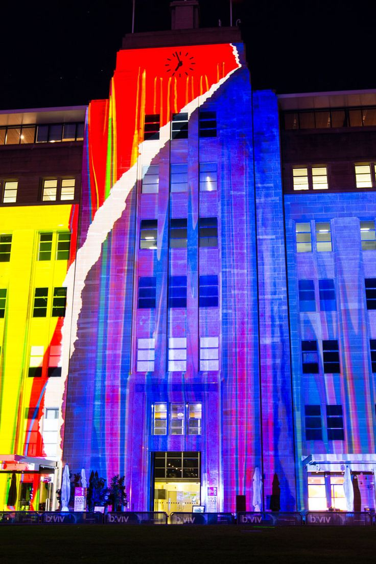 Museum of Contemporary Art in Sydney during the Vivid Sydney Festival