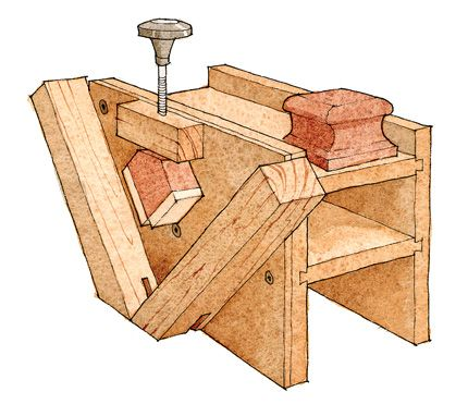 Multi-Use Joinery Jig: spline configuration. Download the free woodworking plan. - CLICK TO ENLARGE