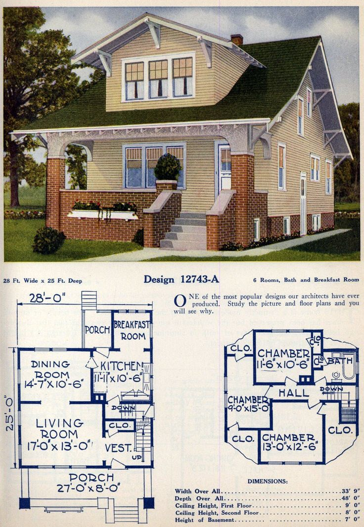 62 Beautiful Vintage Home Designs Floor Plans From The 1920s Sims House Design Vintage House American Style House
