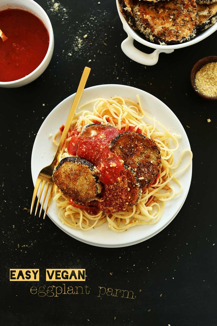 Easy Vegan Eggplant Parmesan Pasta! Simple Ingredients, Fast And So Crispy And Delicious!s!