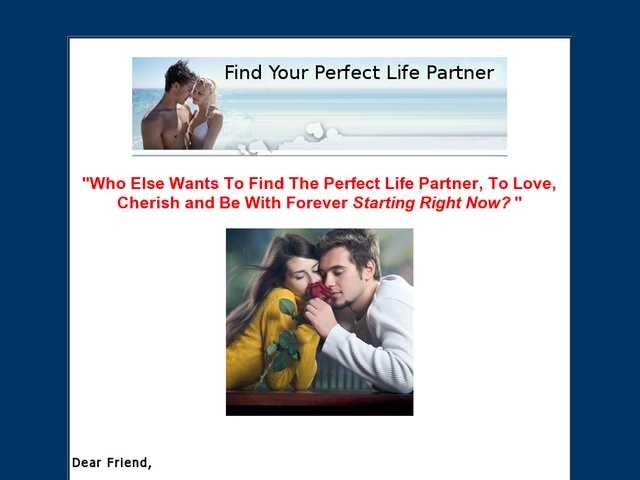 perfect life partner essay My future life partner essay click hereessays to help the paragraphs flow one into the next my fellow gis and i.