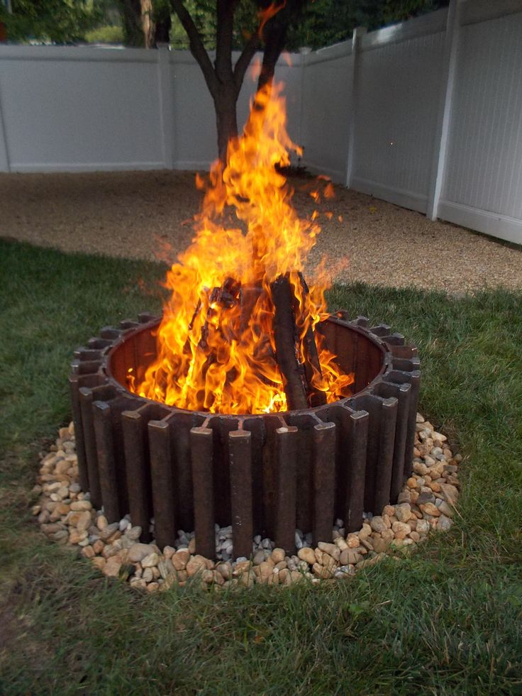 Railroad track fire pit. Studio 25 | Studio25 Functional ...