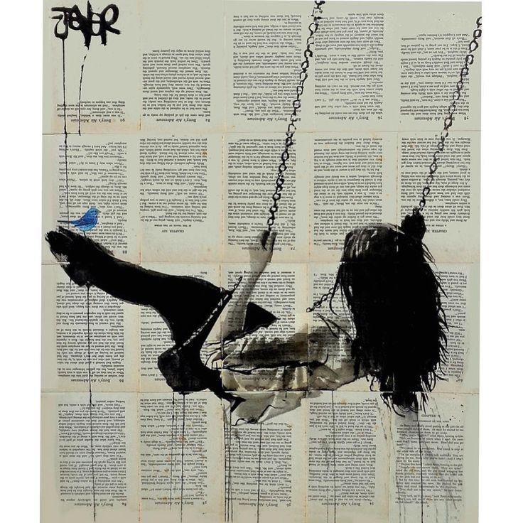 Sanatlı Bi Blog Sanatçı Kadın ve Mutluluğu Kitap Sayfalarından Oluşturduğu Tuvallere Resmediyor 3