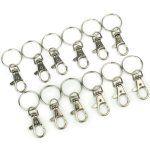 Gros Lots Mousquetons pour Porte-clés/ Porte-clefs 38mm x 17mm: Utilisé pour des porte-clés, de l'artisanat ou des décorations suspendues,…