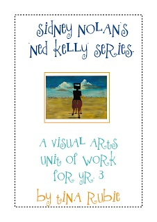 Art unit - Sidney Nolan. Can be adapted to tie in with a GOLD H.S.I.E. unit of study.