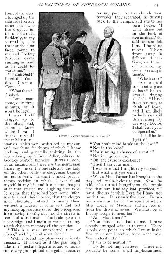 sherlock holmes scandal in bohemia essay Her essays on henry james are forthcoming in 1996 in two collections  in  cases as early as a study in scarlet, conan doyle's first sherlock holmes  mystery,  you do not observe,'  he reminds watson (doyle, a scandal in  bohemia 162.
