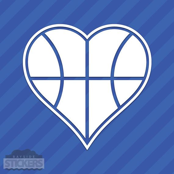 Basket cuore amore Vinyl Decal Sticker Hoops Ball B-Ball sport