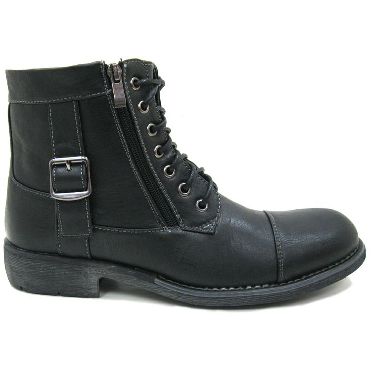 Frank Black Men's Vegan Combat Boots | Threads | Pinterest ...