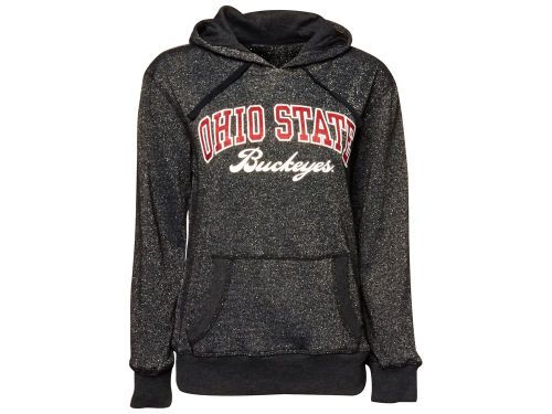 Ohio State Buckeyes J America NCAA Womens Glitter Arch Hoodie